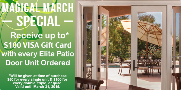 Elite Patio Doors March Promo